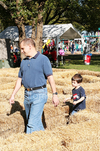 the hay bale maze
